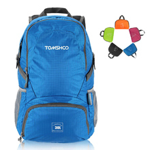 TOMSHOO 30L Climbing Bags Unisex Foldable Sports Bag Lightweight Waterproof Nylon Outdoor Backpack Travel Trekking Cycling Bag