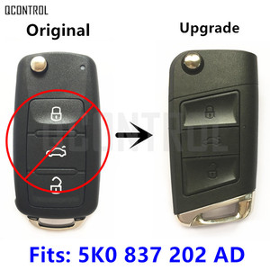 QCONTROL Remote Key Upgrade for VW/VOLKSWAGEN Beetle/Caddy/Eos/Golf/Jetta/Polo/Scirocco/Tiguan/Touran/Up 5K0 837 202 AD