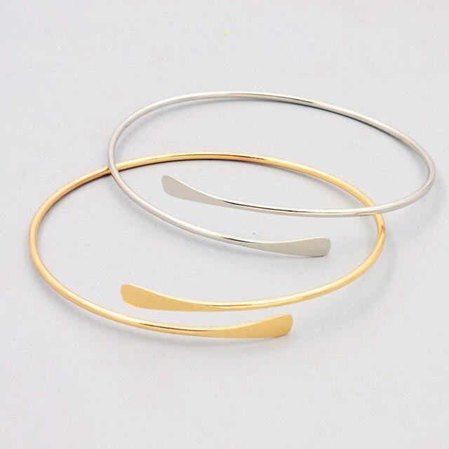 Модные аксессуары ювелирные изделия Новая простая геометрия манжеты браслет подарок для женщины девушки оптовой B3393