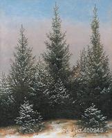 Art oil Painting photo to canvas Fir Trees in the Snow by Caspar David Friedrich High quality Handmade