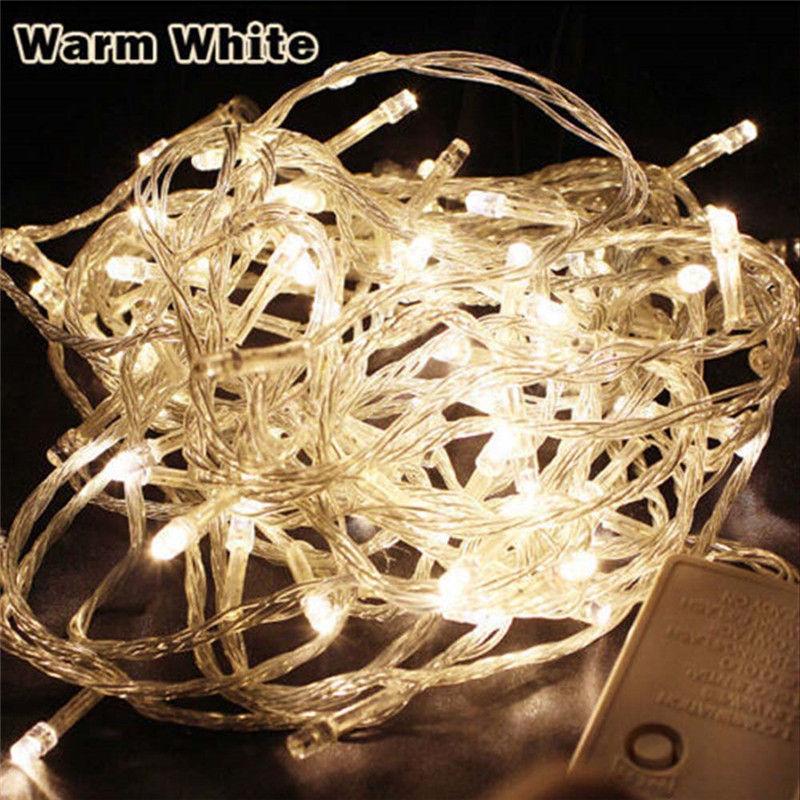 Guirlande lumineuse d'extérieur étanche, 9 couleurs, 10M, 100LED s LED, ac 220v, ac 110v, décoration de vacances et de noël 3
