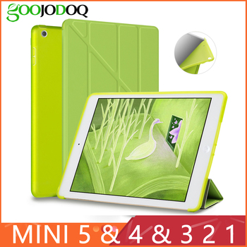 Case For iPad Mini 4 Mini 3 2 1 Mini 5 2019 Case PU Leather Transformers Smart Cover for iPad Case 7.9