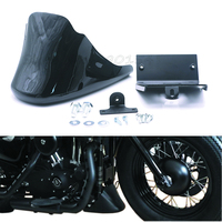 Motorcycle Parts Vivid Gloss/Matte Black Front Bottom Spoiler Mudguard Cover Fit For Harley Sportster 1200 XL Iron 883 2004 2016