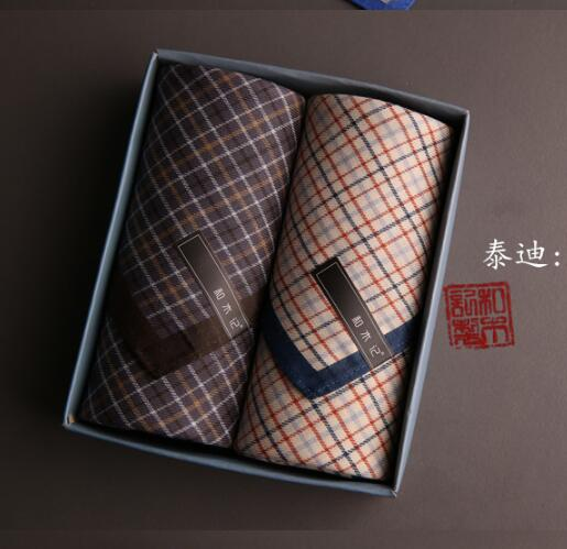 Men Furoshiki Handkerchief Toalha 100% Cotton Pocket Handkerchiefs 43X43cm 2016