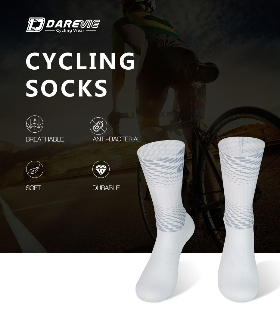 Original creation split joint socks for cycling Anti Fungal Breathable Under knee Outdoor Sports stockings