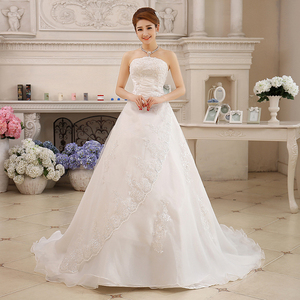 Image 4 - Cheap Real Photo Customized Princess Lace with Train China 2020 Vintage Plus Size Wedding Dresses Bridal Gowns vestido de noiva