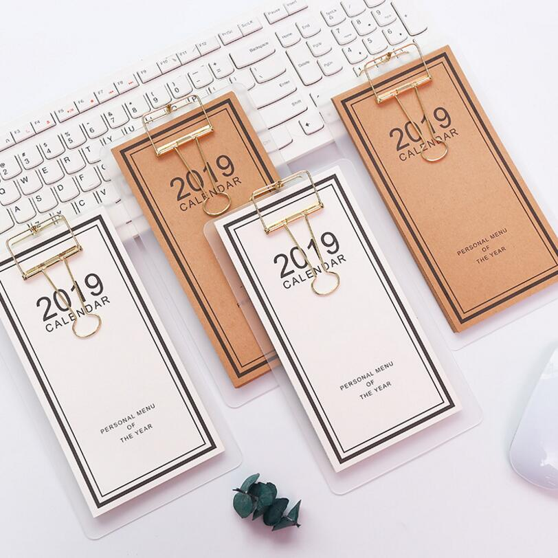 Creative Menu-style Paper 2019 Schedule Desk Calendar Weekly Planner Memo School Office Stationery Calendars, Planners & Cards Calendar