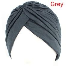 Women Holiday Cap Solid color Muslim Turban Cap Women Elastic Stretchy Beanies Hat Bandanas Big Satin Bonnet Indian
