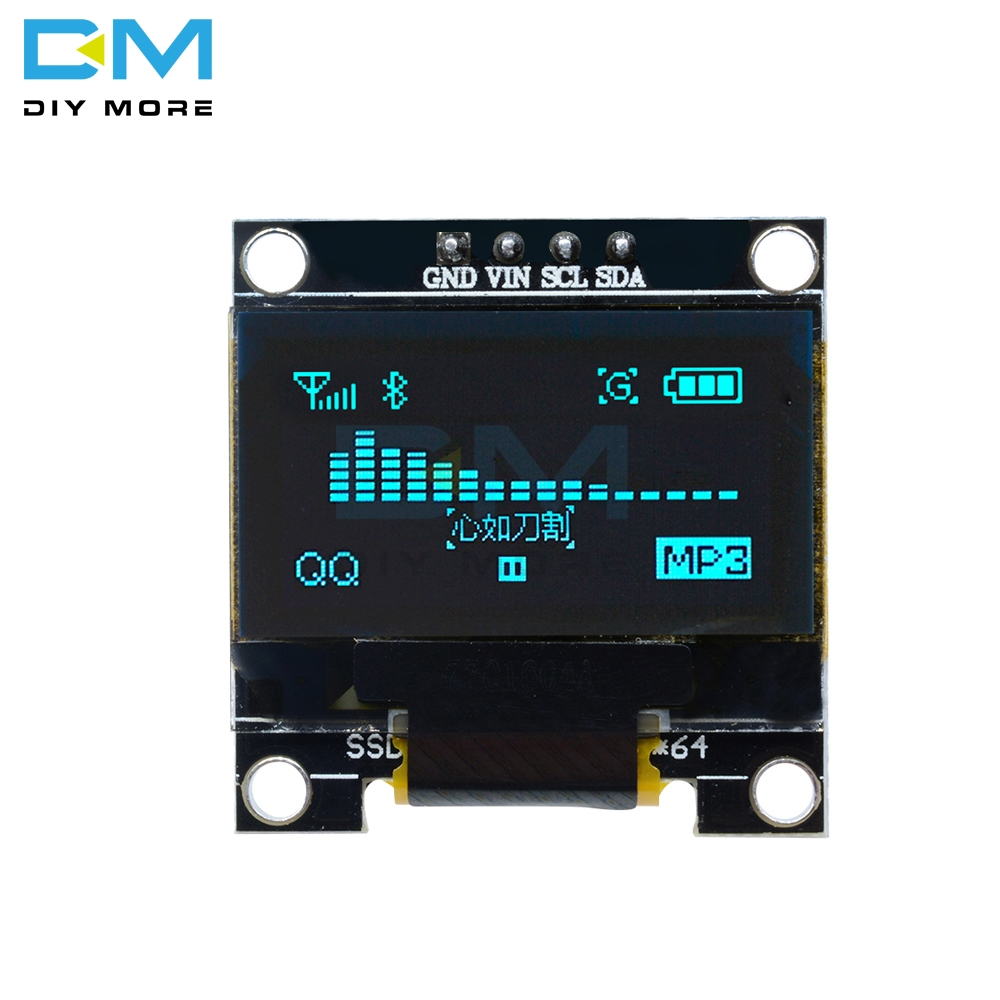 0.96 Inch I2C IIC Serial 128X64 128*64 Blue OLED LED Display Module Compatible For Arduino STM32 Controller Driver Board 3V 5v