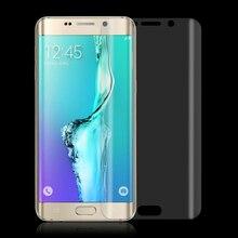 3D Изогнутые прозрачный Полное Покрытие Обложка HD Ясно ПЭТ Мягкие Пластиковые Протектор Экрана для Samsung Galaxy S6 s7 edge plus