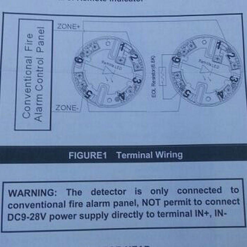 10 PCS)2Wired smoke Detector alarm Optical Smoke alarm DC9 28V smoke ...