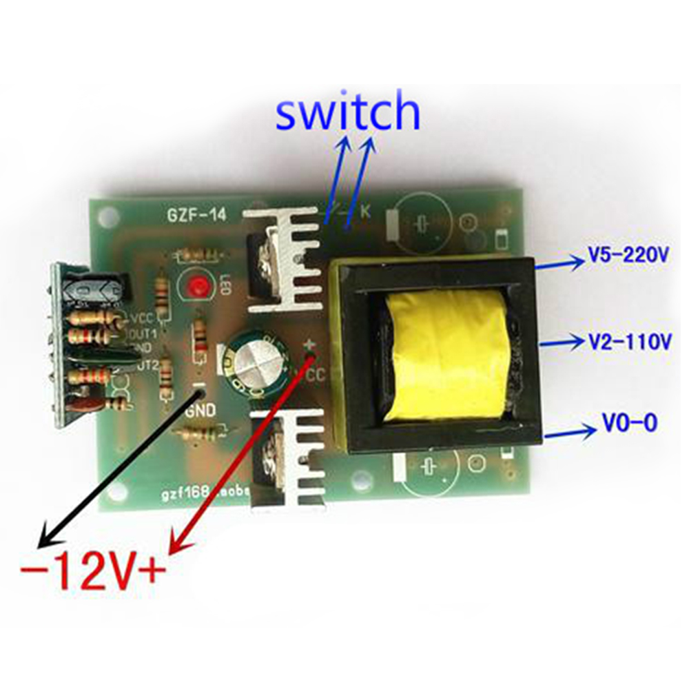 Aiyima 150W Simple TL494 Drive Inverter Booster Circuit Board DC 12V