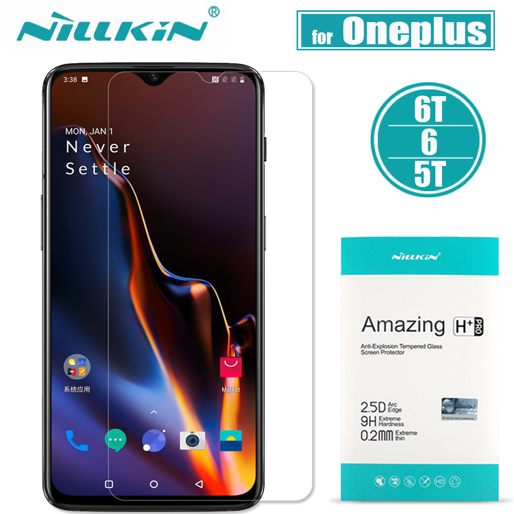 Oneplus 6T 6 Tempered Glass Screen Protector Nillkin 9H Amazing H / H+ Pro Ultra Thin Clear Glass Film for One Plus 5T 5Oneplus 6T 6 Tempered Glass Screen Protector Nillkin 9H Amazing H / H+ Pro Ultra Thin Clear Glass Film for One Plus 5T 5