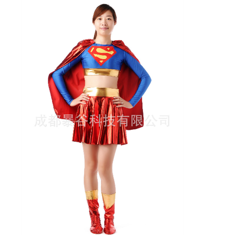 2018new high quality Sexy Superwoman outfit role playing femalecartoonheroinecosplay dress games clothes Halloween Woman Costume