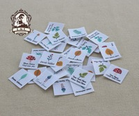 96 Custom Logo Labels Children S Clothing Tags Name Tags White Organic Cotton Labels Forest Plants