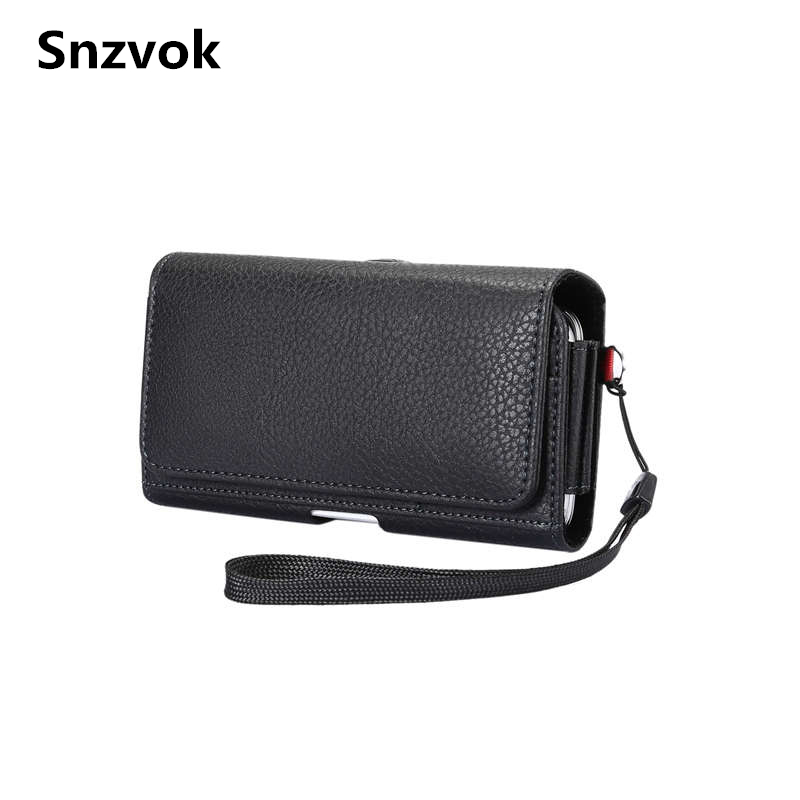 Snzvok 3.5-6.0 inch Universal PU Leather Holster Phone Bag For iPhone 7 8 X For Samsung S7 S8 For Huawei P9 P10 Waist Belt Flip ...