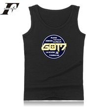 Hot Kpop GOT 7 Summer Sleeveless T-shirt Casual Fashion Tank Top Men Fitness Shirt Mens XXS 4XL Vest Soft Cotton Men Tees Tops