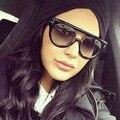 La más nueva Manera de Las Mujeres Señoras de Los Hombres 2 Vigas Frame Gafas de Sol de Diseñador de la Marca de Lujo Elegante de Alta Calidad gafas de Sol Oculos