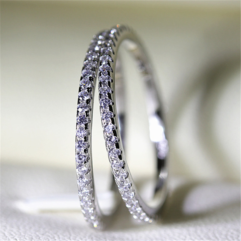 CC Rings For Women S925 Bridal Wedding Jewelry Engagement Party Ring White Gold-Color Silver Plated Drop Shipping Anel CC709 2