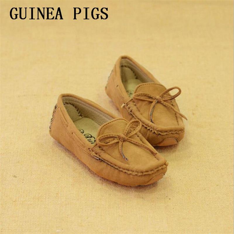b94992dc9 Moda hombre mujer retro arco niños Zapatos para niño Zapatos antideslizante  Niñas zapatilla informal Guinea Pigs marca tamaño 6.5-4.5