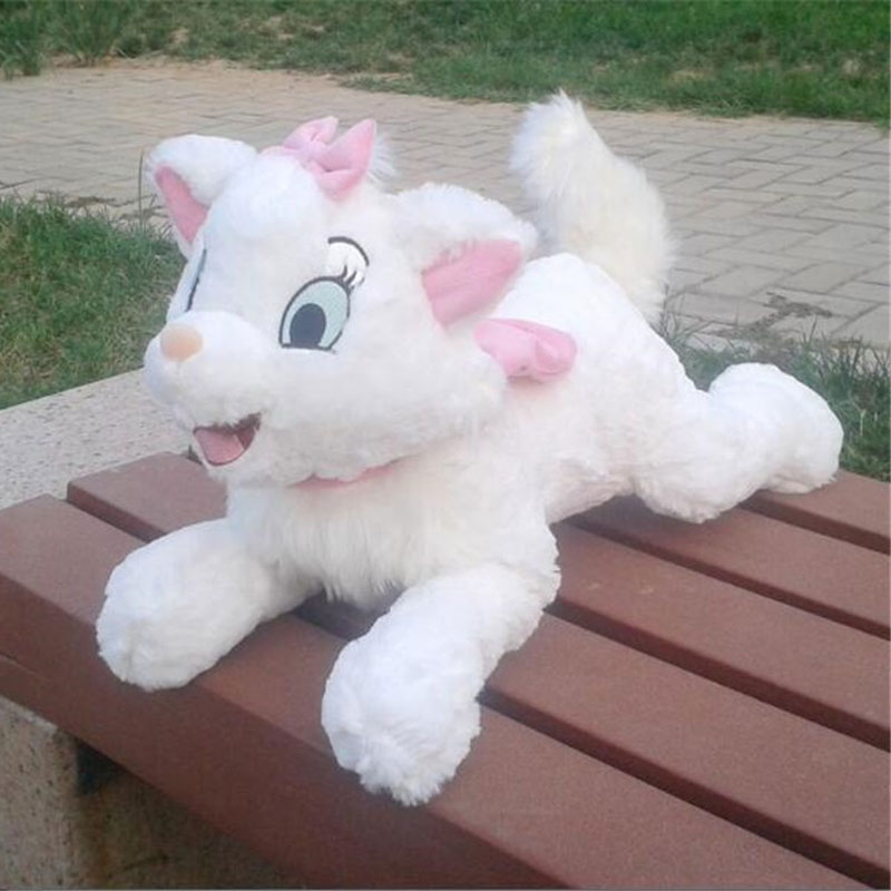 40cm Aristocats Marie Cat Plush Toy Lying White Cats Pillows For Children Kids Gifts