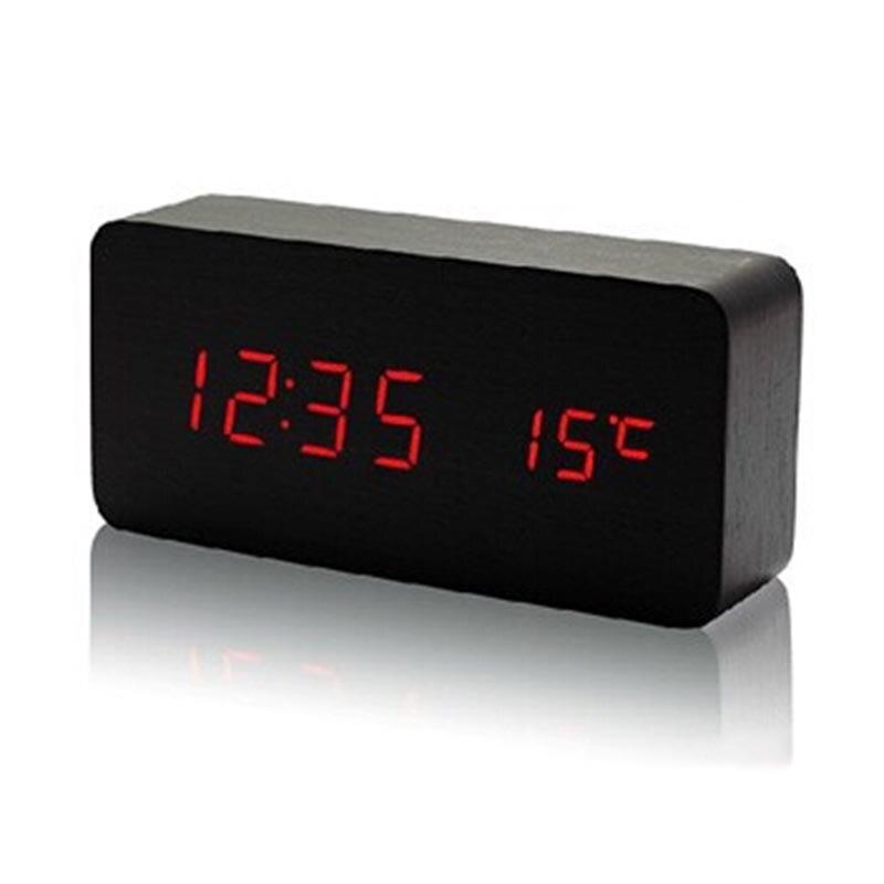 0c80a609dea Hot Upgrade LED Alarm Destop Clock Home Temperature Sounds Control LED  Display Electronic Desktop Digital Table Clocks