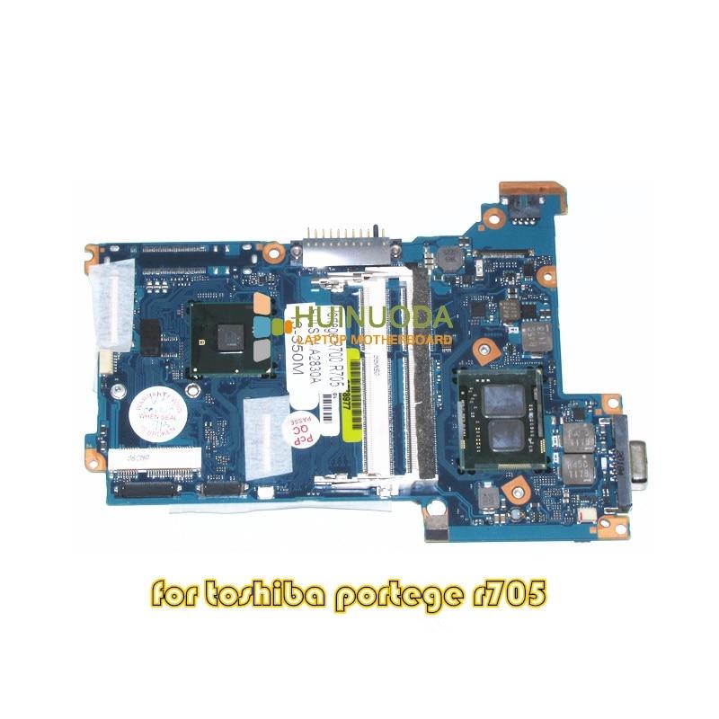 NOKOTION FULSY4 A2830A For Portege R700 R705 laptop motherboard HM55 DDR3 I3 350M CPU onboard