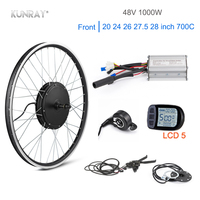 KUNRAY 1000W Electric Motor Wheel 48V 30A ebike Conversion kit Brushless non gear Motor KT LCD5 kit bicicleta electrica Front 26