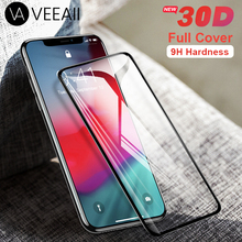VEEAII 30D Tempered Screen Protector Glass Full Cover for iphone 5 6s 6 7 8 Plus for iPhone X XS MAX XR Film Protective Curved стоимость