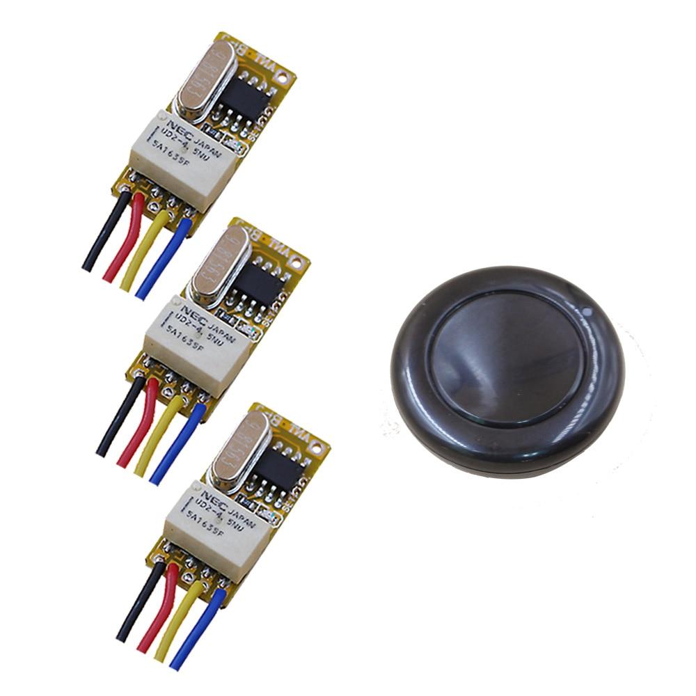 New DC3.7V 4.5V 5V 6V 9V 12V Wide Voltage Micro Receiver Switch Wireless Remote Control Switch + Wall Transmitter 315/433mhz самокат 978 5 91759 315 9