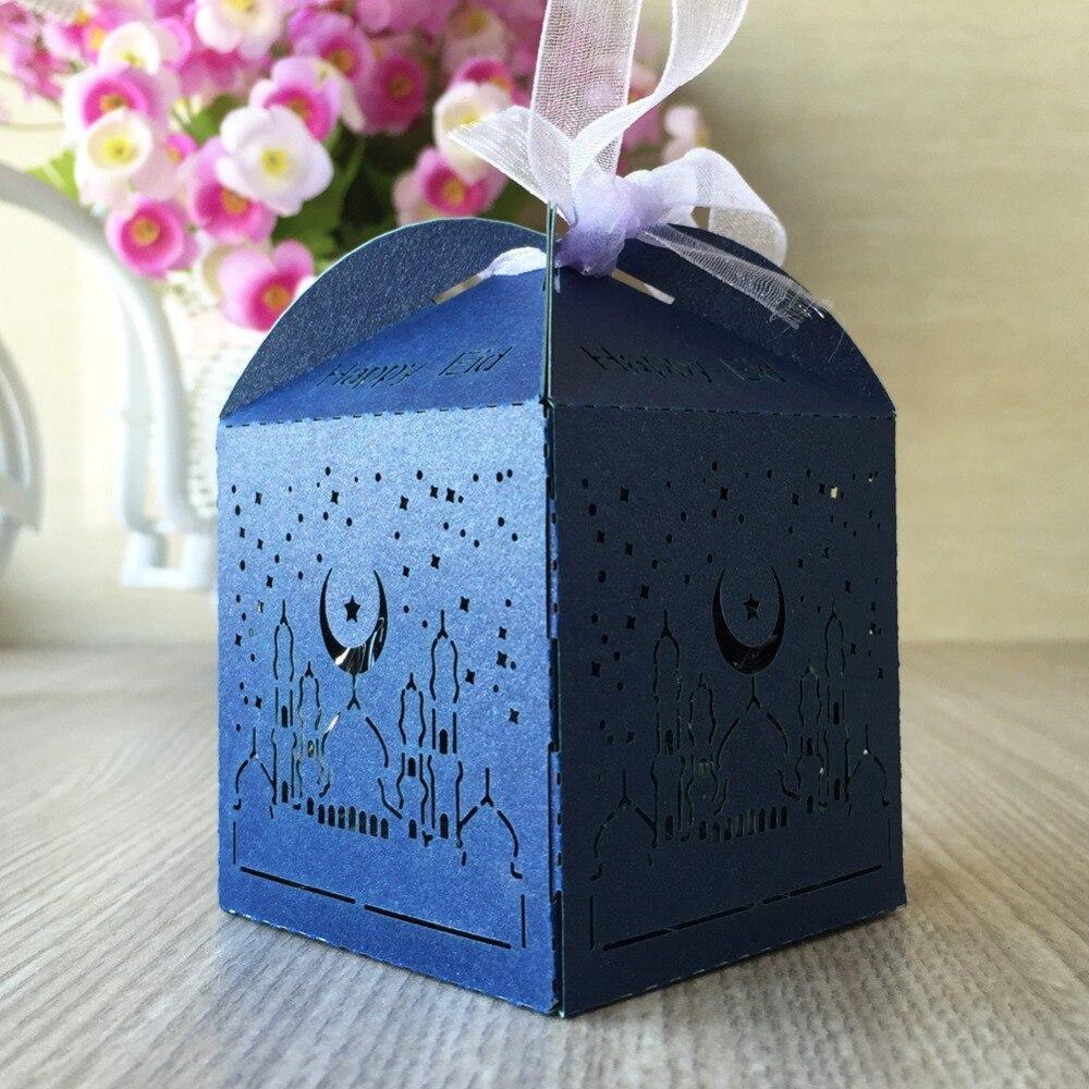 Cool Dinner Eid Al-Fitr Decorations - 100Pcs-Happy-Eid-Celetrate-Ramadan-Eid-al-Fitr-holiday-Party-Dinner-Decoration-Candy-Gift-Favor-Box  HD_865717 .jpg