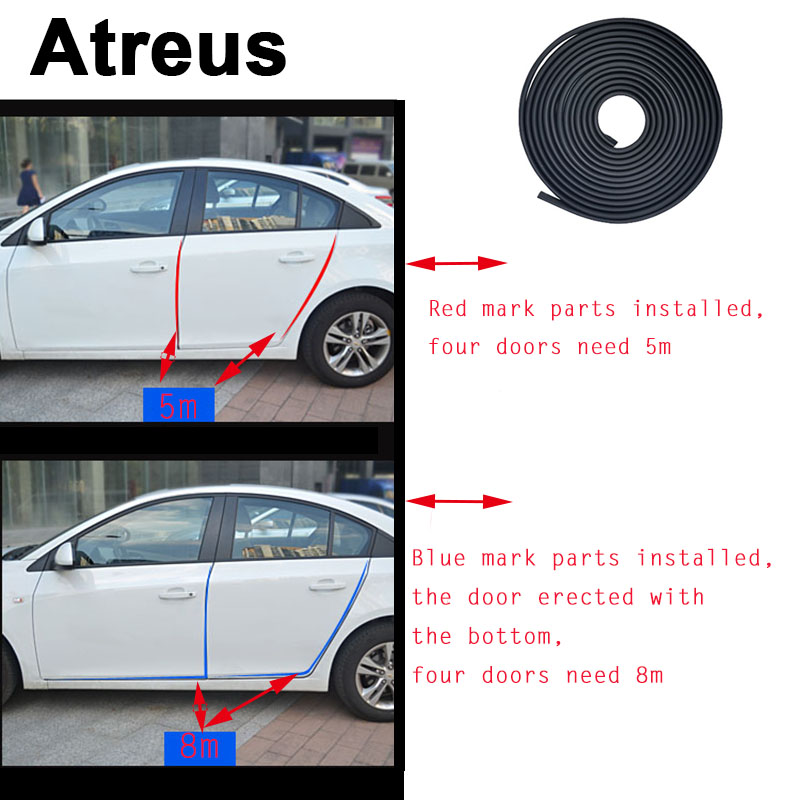 Atreus 35m Car Styling Door Crash Strip Stickers For Nissan Qashqai X-TRAIL Juke TIIDA Note Almera March Tools Accessories