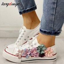 women flower canvas shoes 2020 breathable canvas