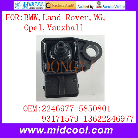 New Manifold Absolute Pressure MAP Sensor use OE No. 2246977 5850801 93171579 13622246977 for BMW Land Rover MG Opel Vauxhall