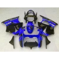 Инъекций новый комплект обтекателя для Kawasaki ZX6R 2000 2001 2002 Ninja 636 цвет синий, черный; Большие размеры 34–43 пользовательские обтекатели комплект