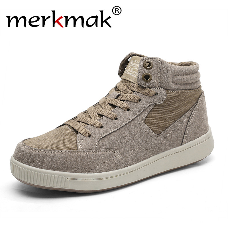 Merkmak Men Casual Shoes 2018 Winter Keep Warm Casual Shoes Men Genuine Leather Shoes With Fur Plus Size 49 Lace Up Mens Flats 2017 new lightweight breathable suede mens casual shoes adult keep warm with fur