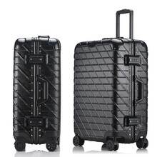 "20""24""26""28""Aluminum frame&drawbars&PC TSA Scratch resistant travel trolley case rolling luggage bags suitcase with wheels"