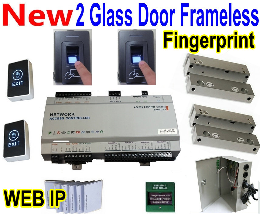 2 Glass Door Frameless Lock Web Ip Based Controls Access