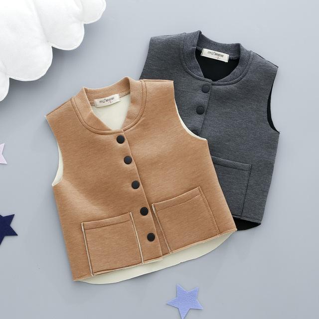 Crianças espaço algodão colete para o menino e meninas das crianças jaqueta colete para meninas inverno quente para baixo casaco criança meninas roupas