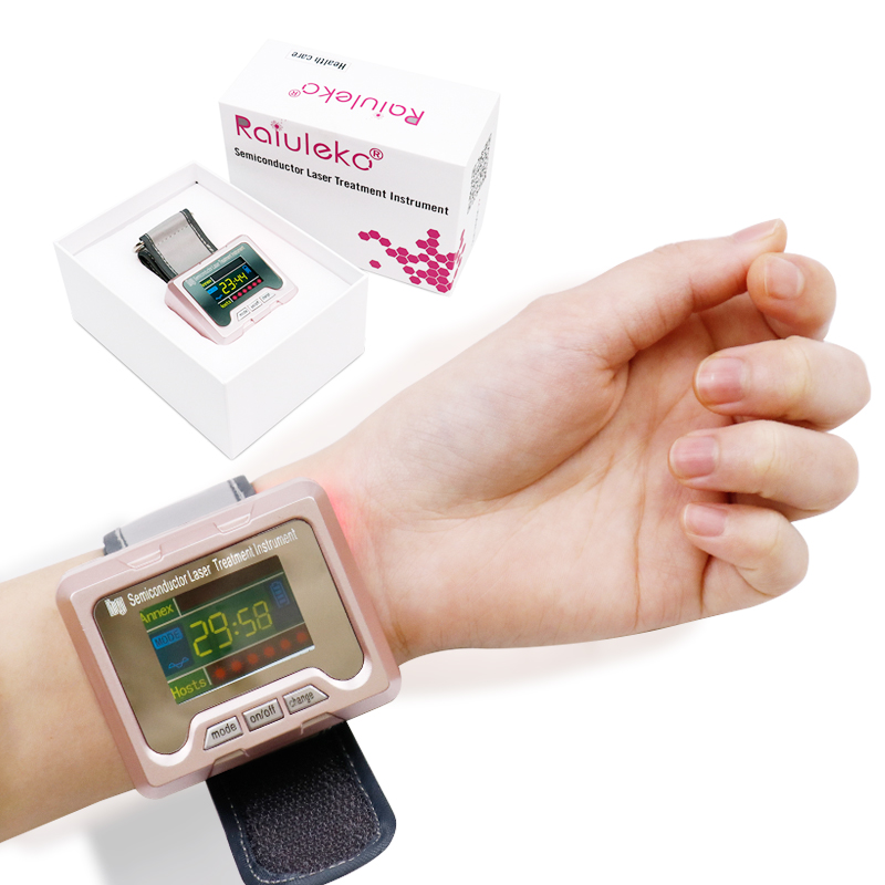 650nm diode Laser Therapy Watch LLLT For Diabetes Rhinitis Cholesterol Hypertension Cerebral Thrombosis Physiotherapy Apparatus