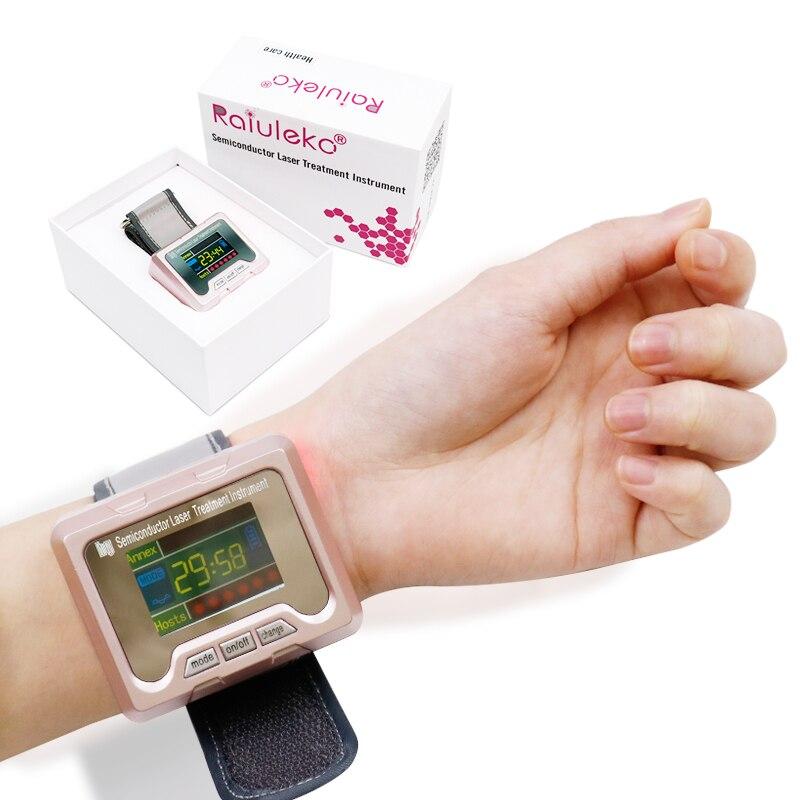糖尿病のための 650nm ダイオードレーザー治療時計 LLLT 鼻炎コレステロール高血圧脳血栓理学療法装置  グループ上の 美容 & 健康 からの マッサージ & リラクゼーション の中 1