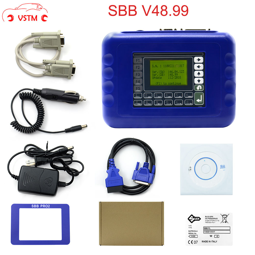 Newest Version SBB PRO2 V48.88 V48.99 With Sbb V46.02 Mini Zedbull Auto Key Programmer Cover Most Of Cars V48.99