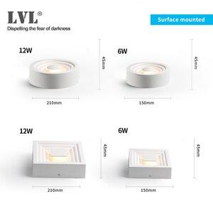 Image 3 - Surface Mounted LED Downlight for Living room, Bedroom, Kitchen, Corridor, Bathroom, AC 85v 265v Anti dazzle Recessed Spot light