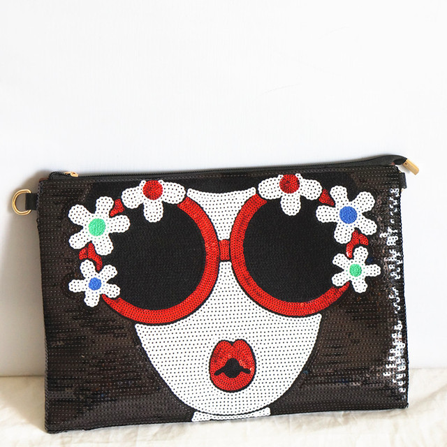 Women's new Bright Character clutch Bag 3