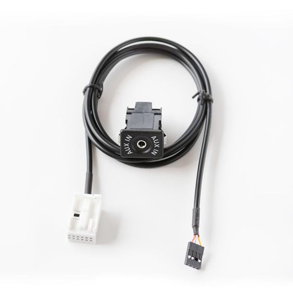 Aux en adaptador compatible con peugeot rd4 n1 radio mp3 iphon 12 pin most manija