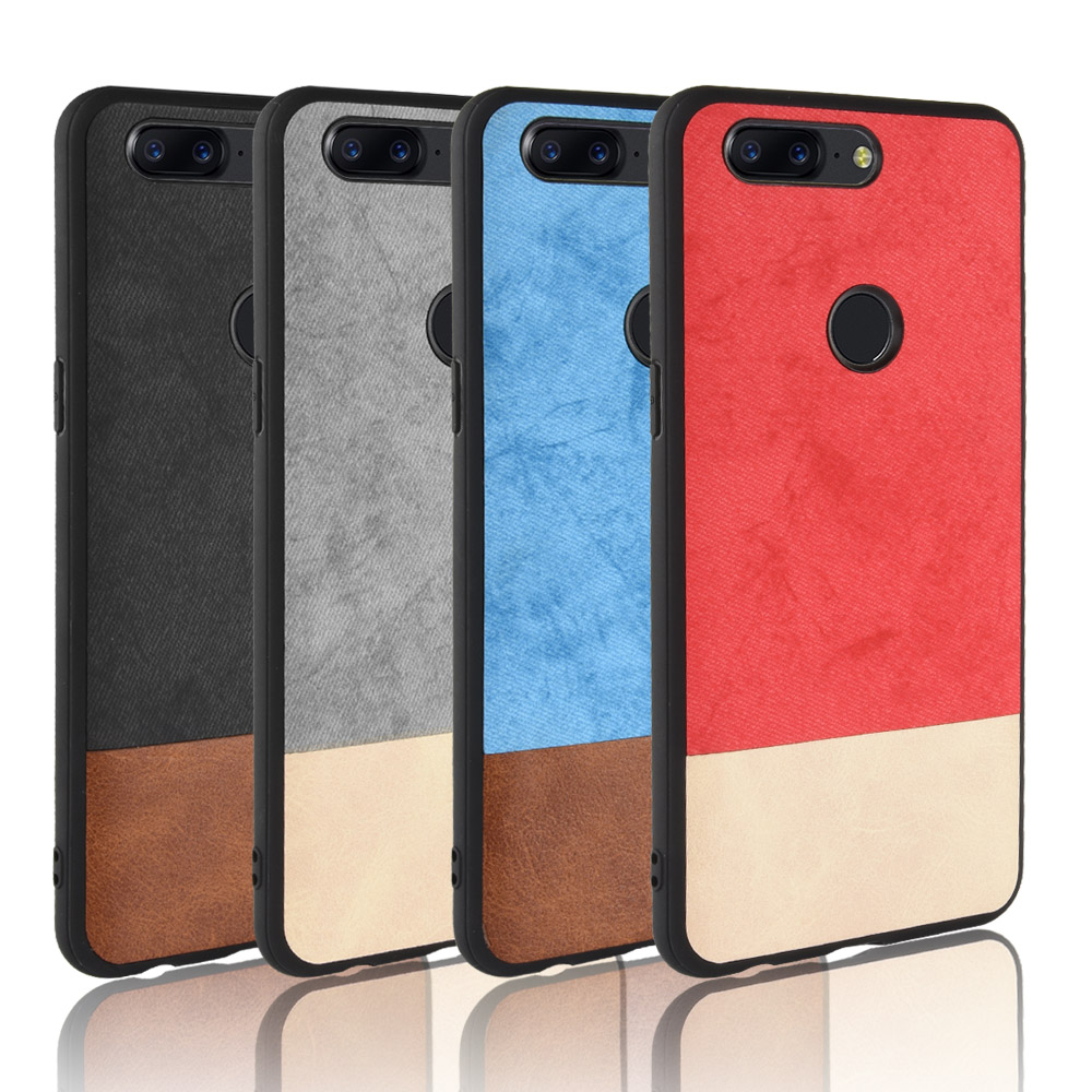 New OnePlus 5T case one plus 5t silicone edge men business fabric shockproof phone cover PU Leather cowboy oneplus5t 1+5 T case