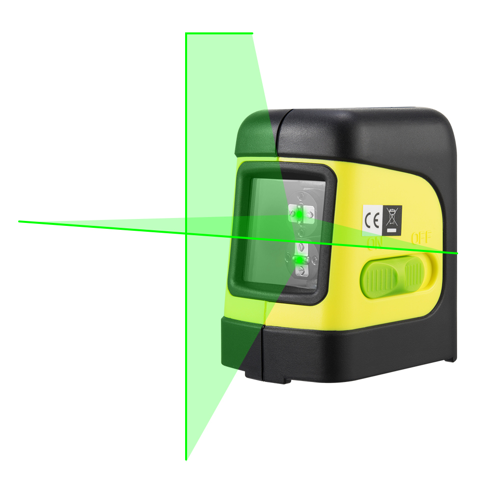 Firecore F112G 2 Lines Green Laser Level Self Levelling ( 4 degrees) Horizontal and Vertical Cross-Line Mini Laser kapro 515 540nm horizontal vertical laser level green color accuracy 0 2mm m model 872g