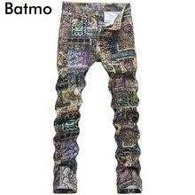 2017 new printed Jeans men,Famous Brand Fashion Designer Denim Jeans Men,printed casual pants men ,plus-size 28-36