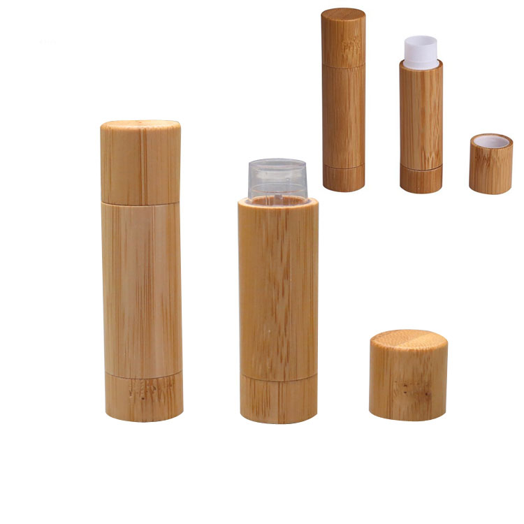 20 50 100pcs 5ml Bamboo Professional Cosmetic Directly Filling Lip Balm Container 5g Empty Natural Bamboo