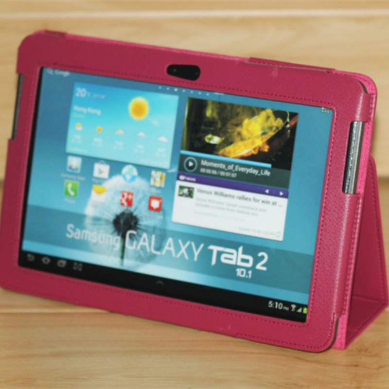 For <font><b>Samsung</b></font> Galaxy Tab 2 10.1inch Case Tablet GT-<font><b>P5100</b></font> P5110 P5113 P7500 P7510 Pu Leather Flip Folio GT-P5110 <font><b>P5100</b></font> Magnet Cover image